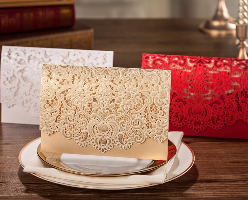 wholesale wedding invitation card folding korean wedding card