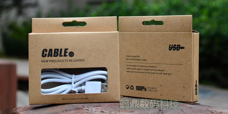علبة كبل العالمي ريترو كرافت ورقة صناديق حزمة البيع بالتجزئة لسامسونج غالاكسي S4 ملاحظة 3 فون 4 5 5S 6 USB شاحن محول سلك خط البيانات