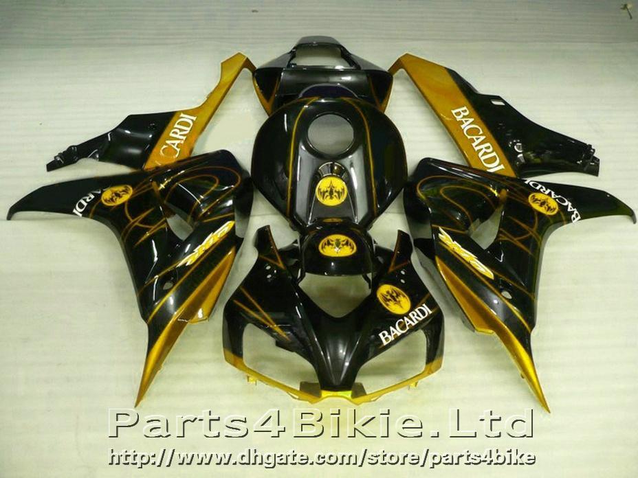 SALE fairings for Honda CBR1000RR 2006 2007 Golden black fairing kit 06 07 CBR 1000RR TJCD