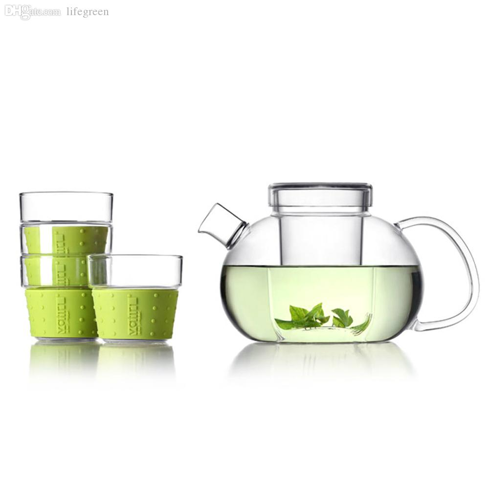 wholesale new ml teapot set vatiri modern style clear  -