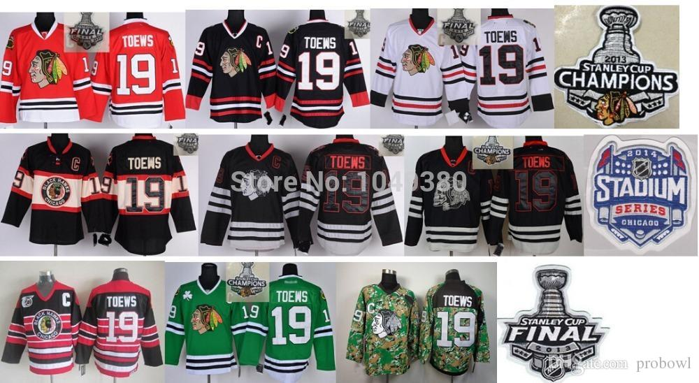 2018 Wholesale Cheap Chicago Blackhawks Ice Hockey Jersey #19 Jonathan Toews  Jersey Black 2013 Stanley Cup Finals Patch From Probowl, $25.73 | Dhgate.Com