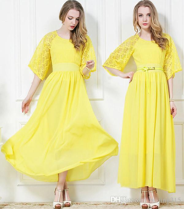 2d5dc941b88 Elegant 2018 New Fashion Women Vintage Chiffon Lace Dress Maxi Dresses  Bohemian Beach Dress Long Evening Dress Ball Gown Black And White Cocktail  Dresses ...
