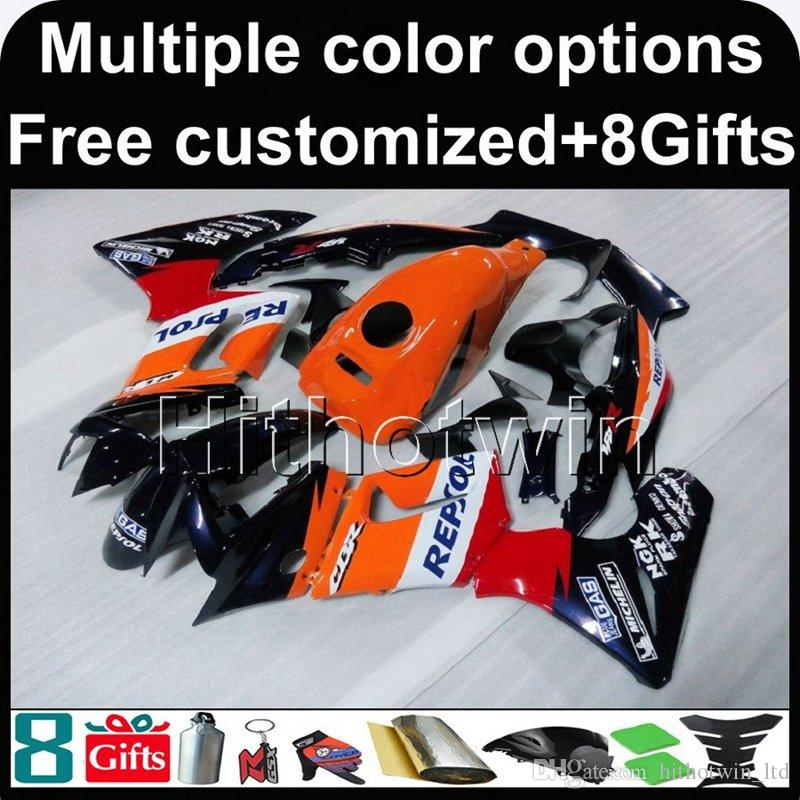 23colors+8Gifts REPSOL motorcycle cowl for HONDA CBR125R 2004-2005 04 05 CBR 125R 04-05 ABS Plastic Fairing