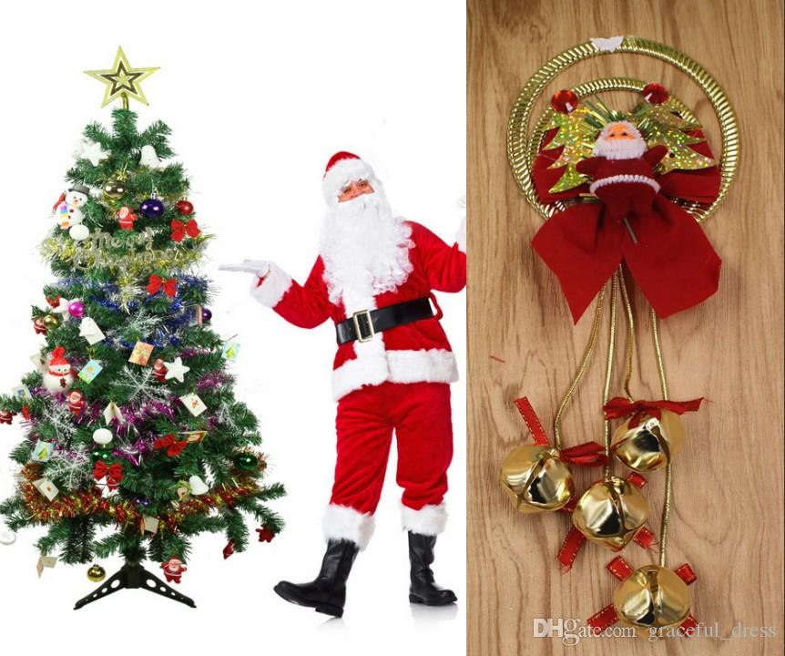 new arrivals santa claus bell christmas tree decorations promotion sale cheap small party supply cartoon bell 27cm styles with sound mc03 unique christmas