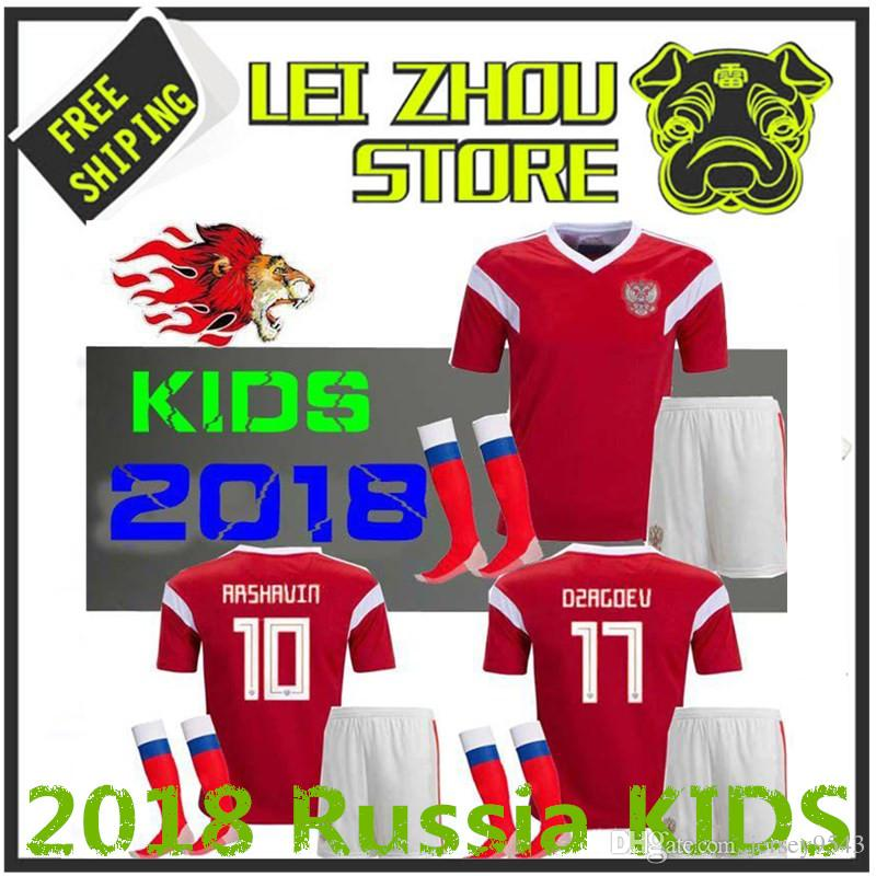 bb62abdea The Latest Children s Jerseys in 2018 Rugby World Cup Russia Kids Kit  Soccer Jersey 1819 Home Thailand Quality Children s Clothing Russia Messi  NEYMAR JR ...
