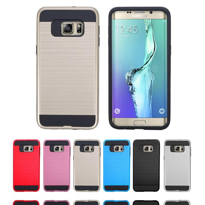 Hot Sale Cell Phone Case Hybrid Tough Slim Armor TPU+PC Shockproof For Samsung Galaxy S6 Edge Plus