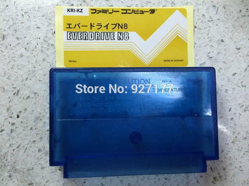 Free shipping everdrive n8 for Famicom flash cartridge color Plastic shell and Color sticker,Do not include the motherboard!