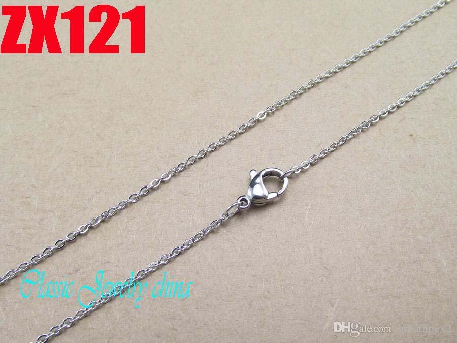 1.5mm hochwertige edelstahl halskette o-förmige kette mit karabinerverschluss damen pullover kette förderung 10 stücke zx121