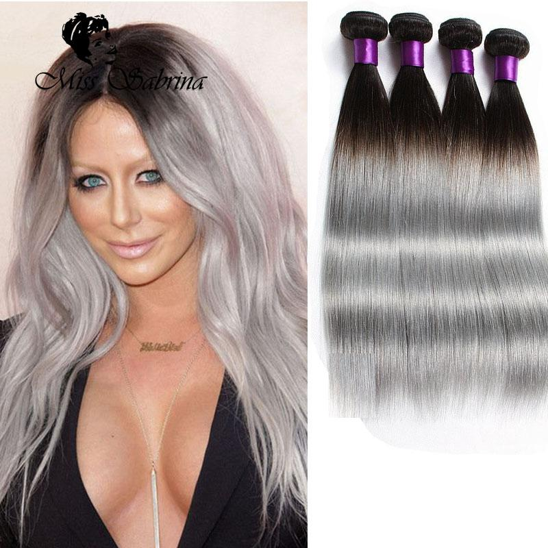 Hot dark roots grey hair weave ombre 1bgrey brazilian straight see larger image pmusecretfo Images