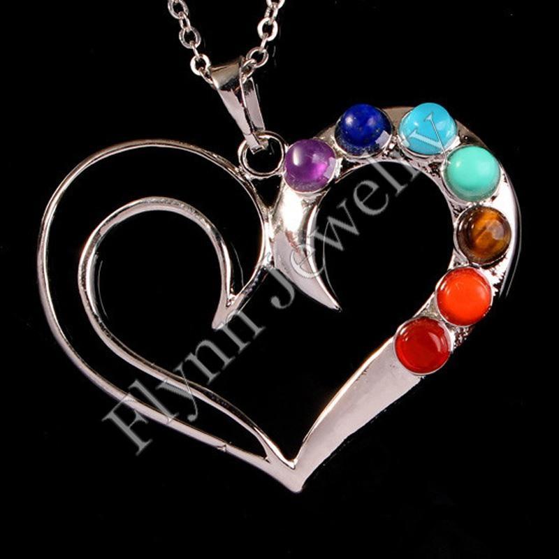 Variety Beautiful 7 Chakra Beads Metal Reiki Pendant Charms Health Healing Amulet Fashion Jewelry 2016 Hot Sale Boys and Girls gifts