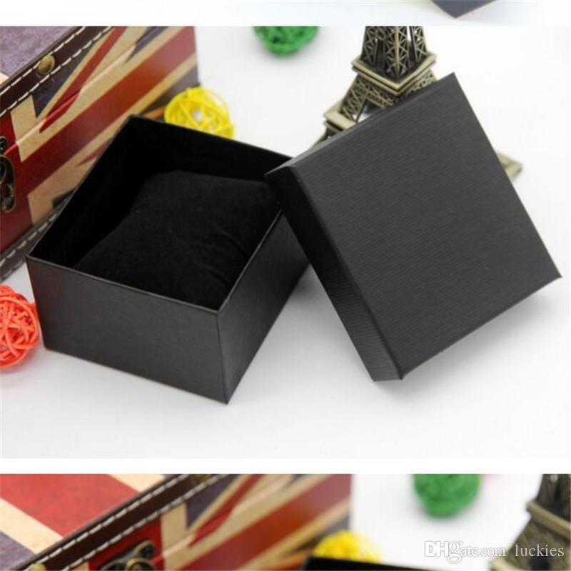 كرتون تقديم هدية حالة صندوق لسوار حزام مجوهرات أقراط المعصم ووتش مجوهرات التخزين علبة هدية