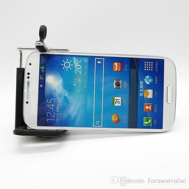 Universal 8X Zoom Handy-Teleskopobjektiv mit Halter Langes Brennobjektiv für iPhone Samsung HTC Sony Blackberry schwarz im Einzelhandel