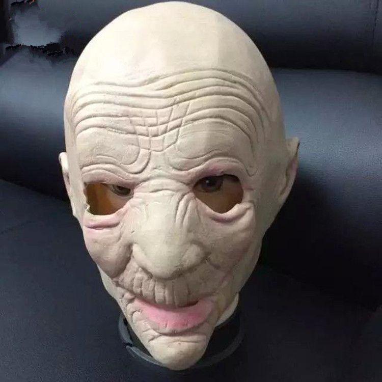 Acquista Maschera Di Halloween All ingrosso Maschere Spaventose Maske  Deluxe Latex Maschere Antiche Maschere Mascaras De Latex Realista Capelli  Bianchi Fase ... f16d08464428