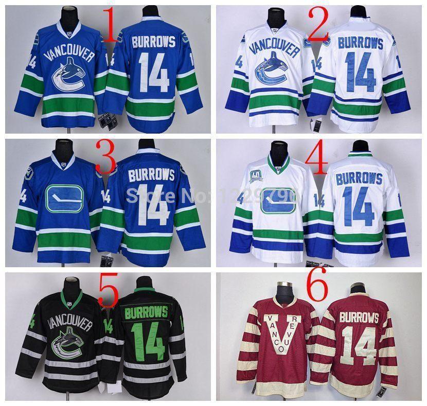 6c8cb5225d3 ... Alexandre Burrows Stitched Blue NHL Jersey 2017 30 Teams Wholesale Vancouver  Canucks Hockey Jerseys 14 .