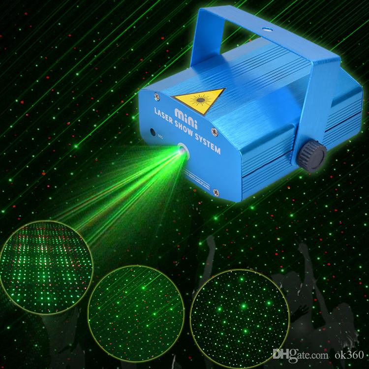 150mw Mini Red Amp Green Moving Party Laser Led Stage Light