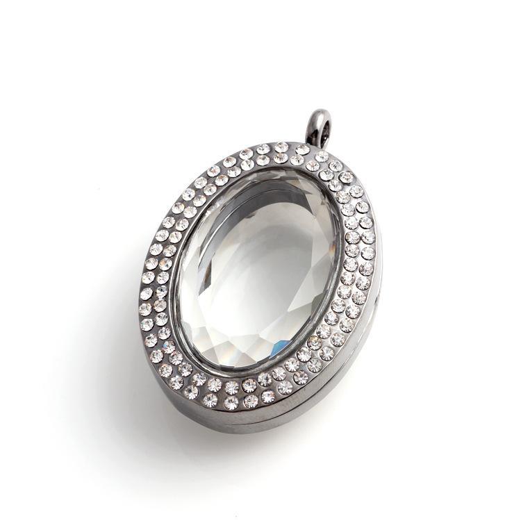 New fashion Collane pendenti in vetro ovale fai da te accessori gioielli locket magnetico fascino galleggiante medaglioni di cristallo
