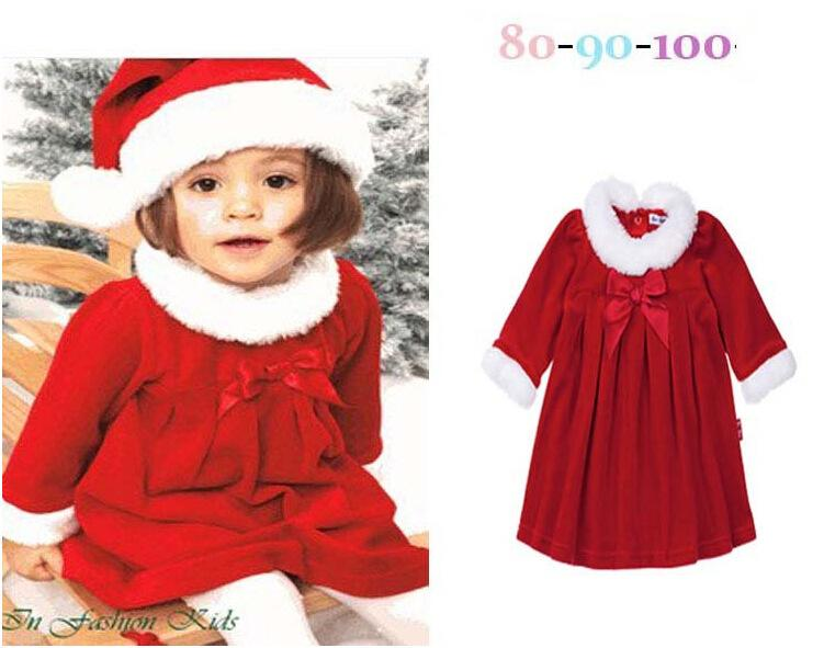 2017 Christmas Costume Gift Baby Girl Santa Claus Clothing Sets ...