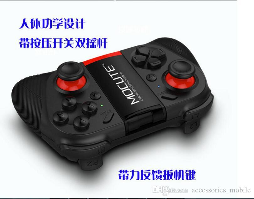 MOCUTE 050 Wireless Bluetooth Gamepad PC Game Controller for Smartphone TV Box With Built-in Foldable Holder Wireless Game Joystick