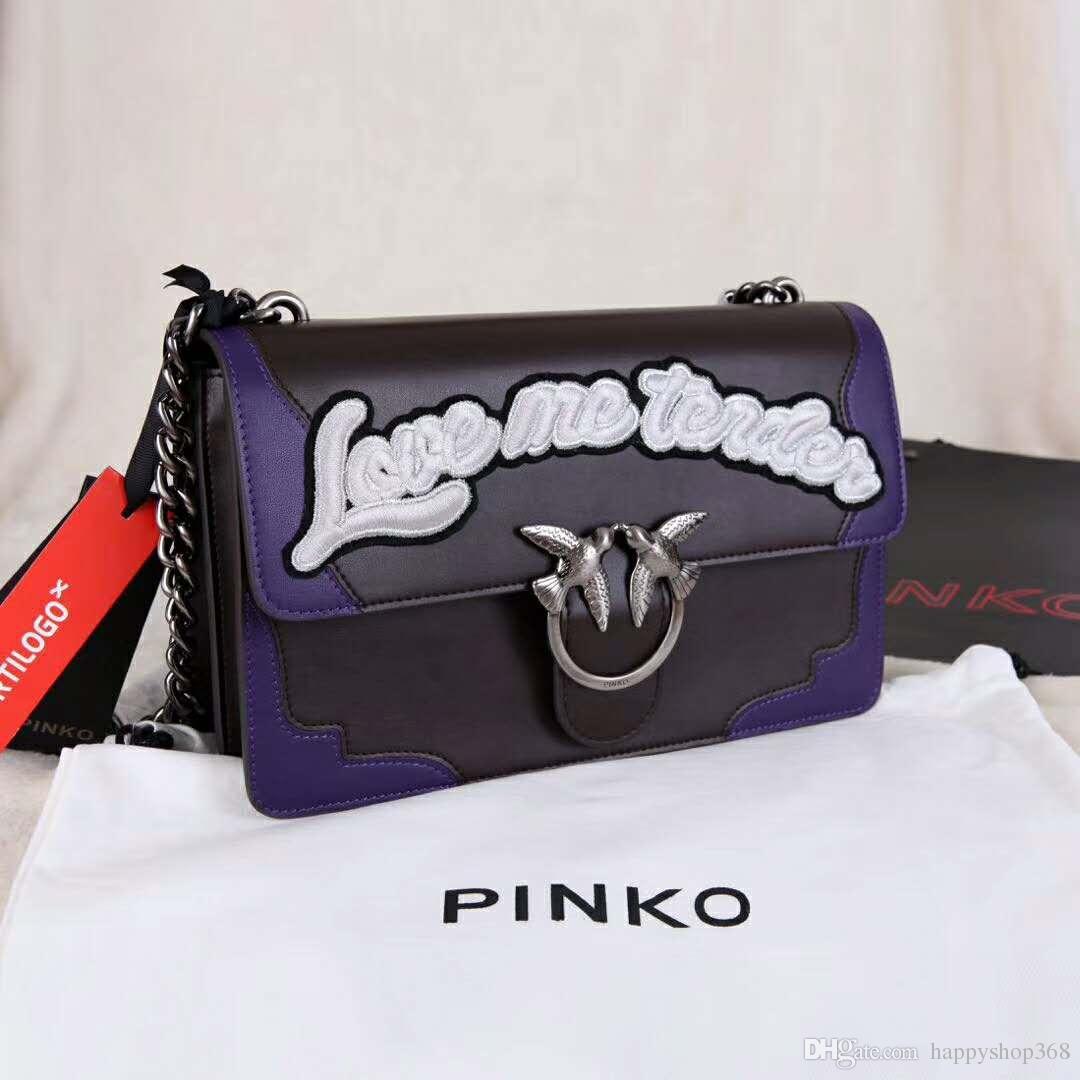 2e17fb9619c Italy fashion Messenger bag Pinko women bag swallow pack luxury brand bags  leather chain shoulder bag Sheepskin