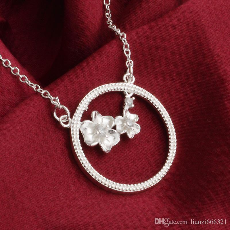 Бесплатная доставка мода высокое качество 925 серебряные сердца и стрелы ювелирные изделия с бриллиантами 925 Серебряное ожерелье День Святого Валентина праздничные подарки горячие 1658