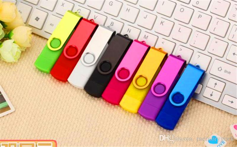 100% Gerçek Kapasite 2 GB 4 GB 8 GB 16 GB 32 GB 64 GB 128 GB 256 GB OTG Harici USB Flash Sürücü Memory Stick Metal OPP Ambalajında