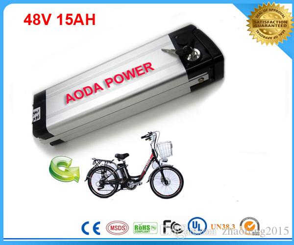 бесплатная доставка 1 шт. / лот 48 В 15Ah электрический велосипед батареи с алюминиевый корпус ,BMS, 54.6 В 2A зарядное устройство