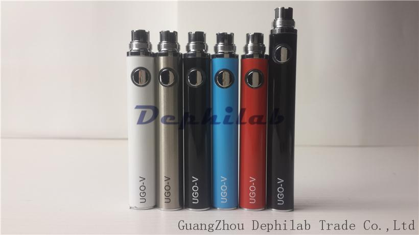 Ugo V Battery E Cig Evod Passthrough USB Bottom Charge Ego Electronic Cigarettes Rechargeable Batteries 650mah 900mah For CE4 1453 Atomizers