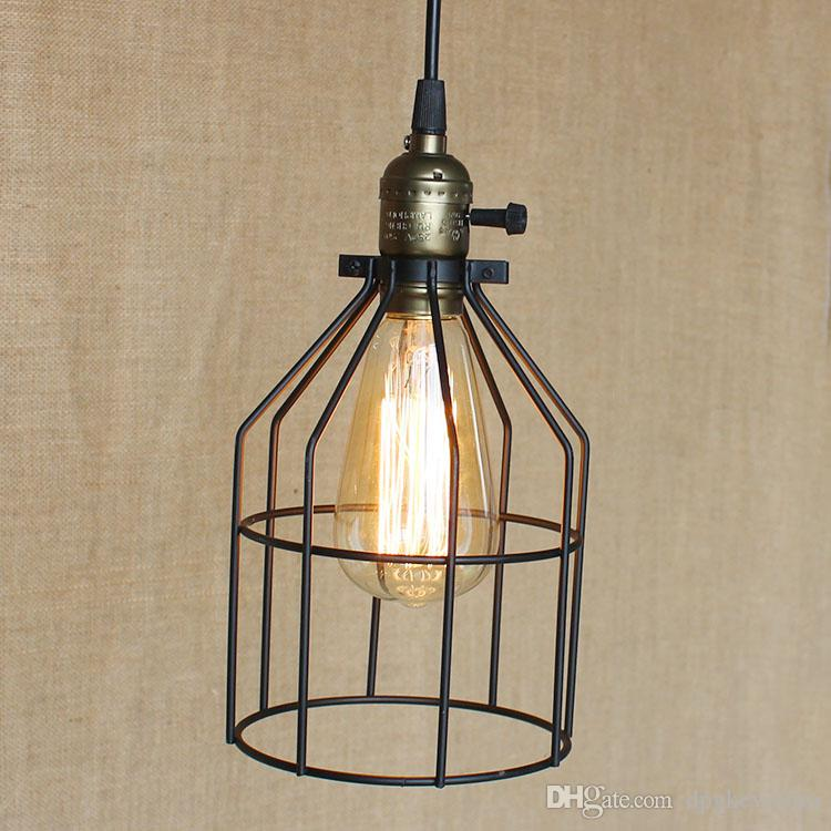 Discount Industrial Cage Light Vintage Retro Metal Cage Ceiling Light  Chandelier Edison Vintage Chandeliers Indoor Spotlight Grapefruit Pendant  Light Metal ...