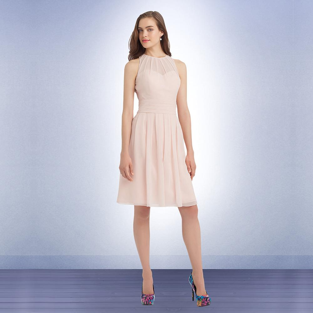 Light pink short junior bridesmaid dresses 2015 pleated ruched see larger image ombrellifo Gallery