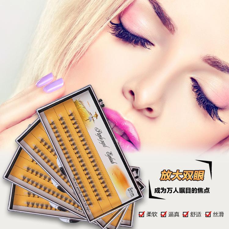 Professional False Eyelashes Individual Lashes Eyelashes Extension Flares Eyes Makeup Fake Eyelashes Black Long Lashes 8mm 0.07 Best Quality