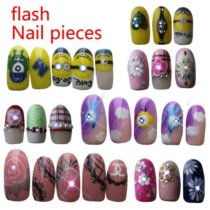 Colorful Led Nail Stickers Image - Nail Art Ideas - morihati.com