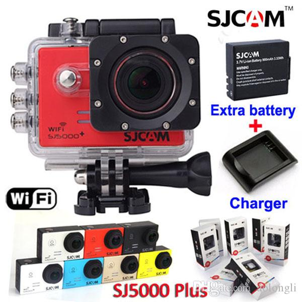 DHL Original SJCAM SJ5000 Plus WIFI Action Sport Camera FHD 1080P 60FPS  video Waterproof Cameras +Extra Battery + Charger SJ5000+ Camcorder