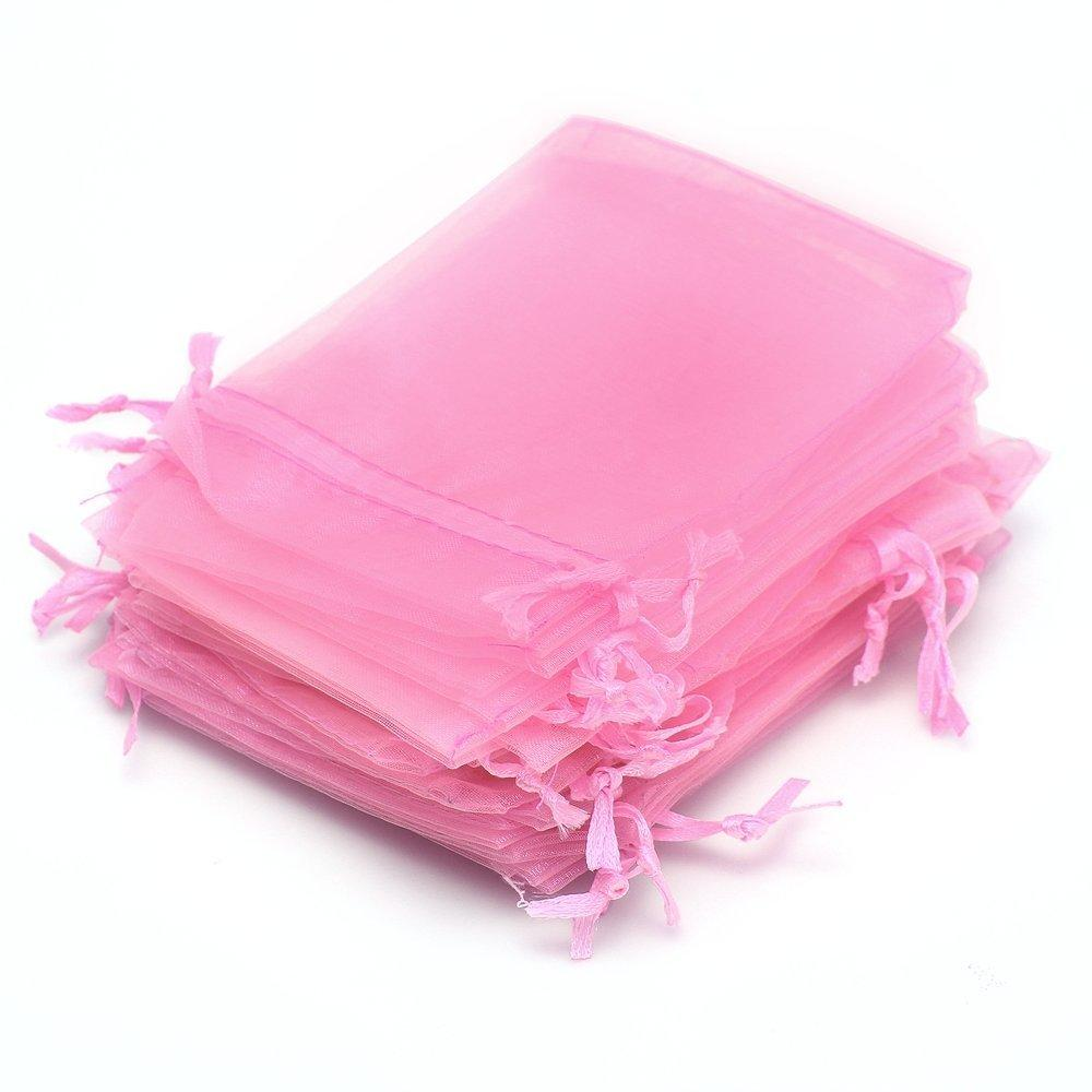 Wholesale Ayhf Gauze Jewelry Wedding Candy Favor Gift Bag Pouch Pink ...