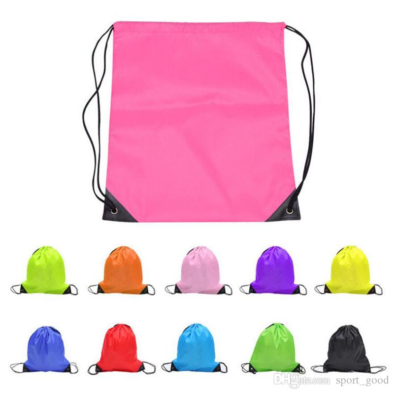 New Outdoor Sport Camping Hiking Climbing Cycling Nylon Polyester Drawstring Backpack Bags Basketball Bag Package for Sale