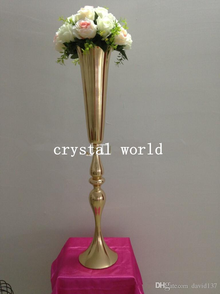 New gold iron flower vase 4 candle candleholder candelabra new gold iron flower vase 4 candle candleholder candelabra centerpiece silver metal flower vase decoration flower tall vase big flower vase online with reviewsmspy