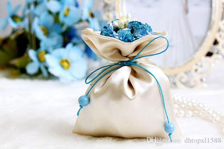 Weds Wedding Centerpieces Favors Silk Candy Box Elegant Artificial Bouquet Wedding Gifts Bags For Table Decoration