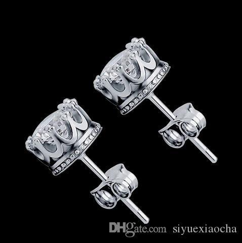Pendiente de plata 925, diamantes de imitación, estilo de moda, pequeñas joyas de plata esterlina para mujeres, envío gratis y calidad excelente