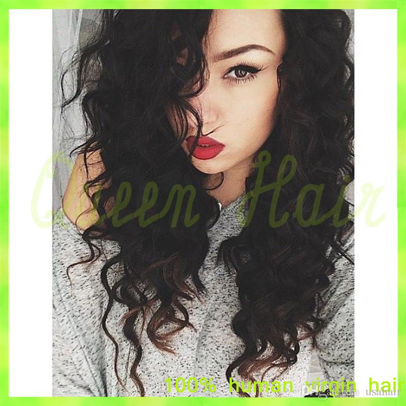 Curly Full Lace Human Hair Wigs Curly Human Hair Lace Front Wigs With Baby Hair Virgin U Part Wig Human Hair Curly Lace Wigs
