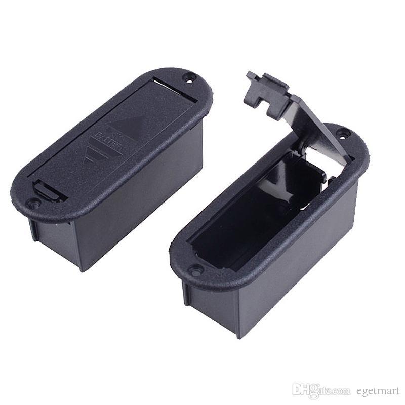 Atacado BARATO Qualidade 9 V Caixa de Bateria para Guitarra Ativo e Baixo Pickup Frete grátis MU1229