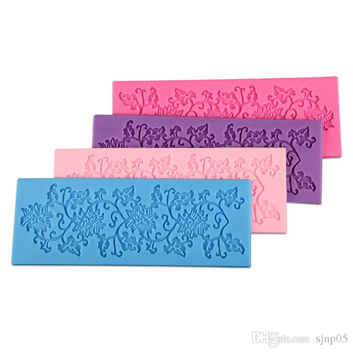 Lace Mold Floral Sugar Lace Mat Decorations for Fondant Cakes Instant Sugar Lace Mold Cake Mold Silicone Baking Tools