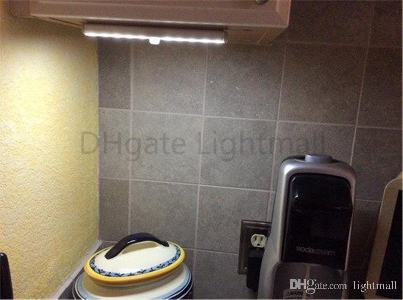 10 LED PIR Infrared Motion Detector Wireless Night Light Kitchen Wardrobe Closet Cabinet lamp tube Bar Stick Anywhere Portable wholesale