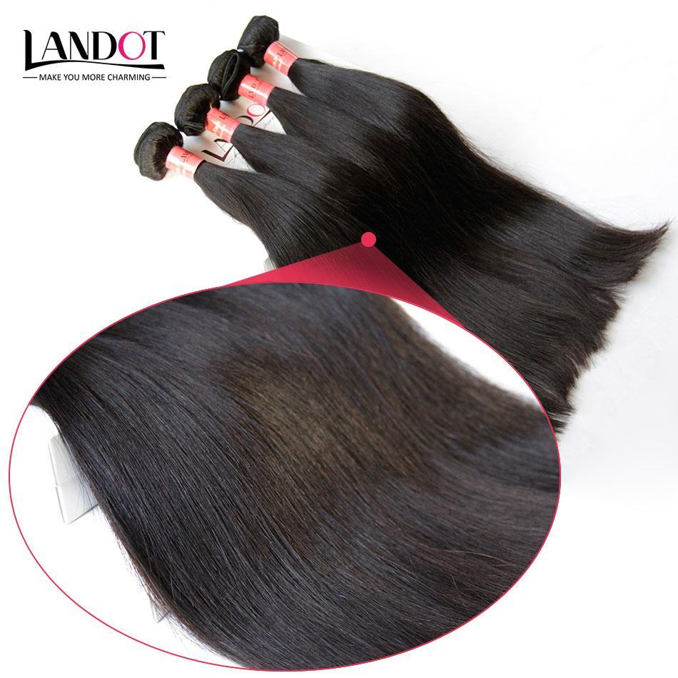 البرازيلي مستقيم الشعر 100٪ شعرة الإنسان نسج 4 حزم الكثير غير المجهزة 8a البرازيلية حريري مستقيم الشعر التمديد اللون الطبيعي لحمة مزدوجة