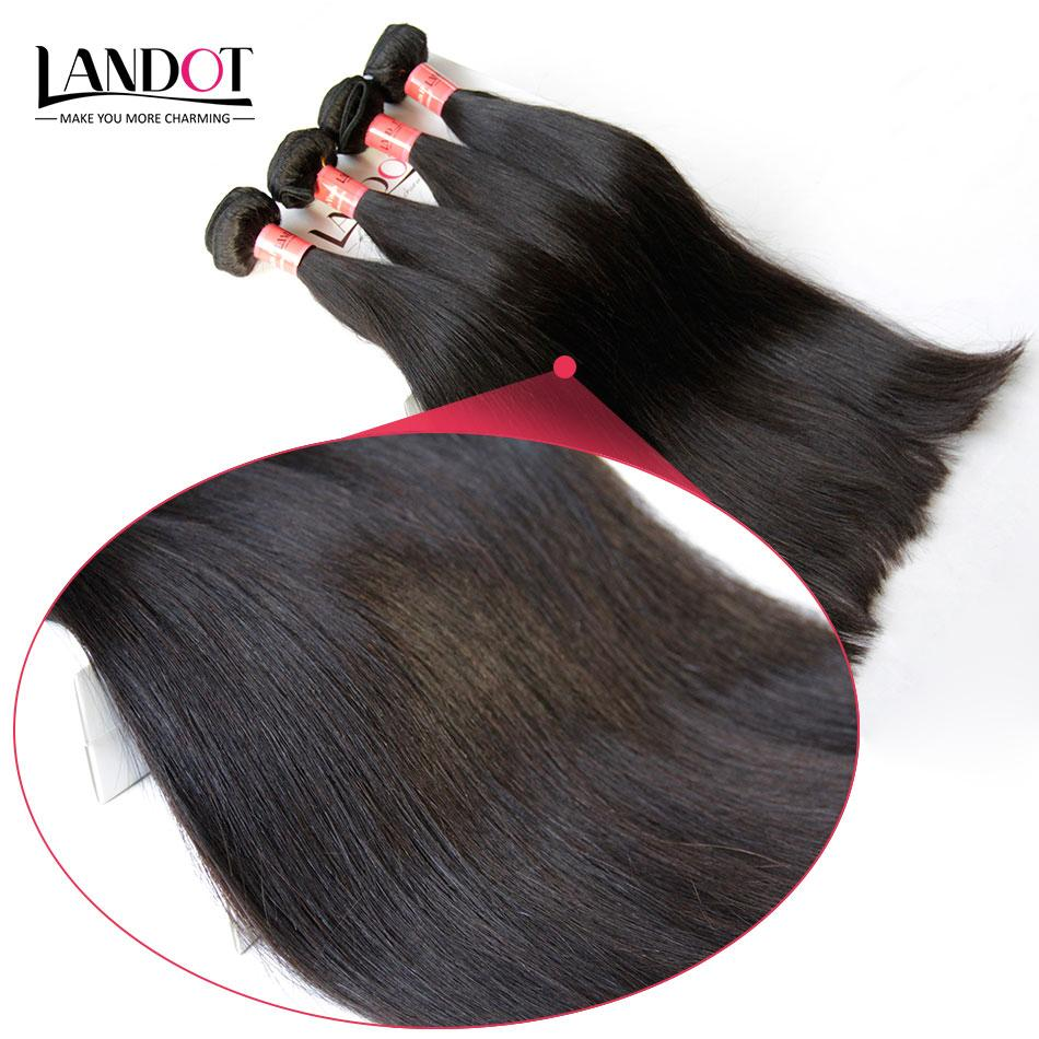 Capelli lisci brasiliani tessuto 100% capelli umani 4 bundles lotto non trasformati 8A brasiliano setosa capelli lisci estensione colore naturale doppia trama