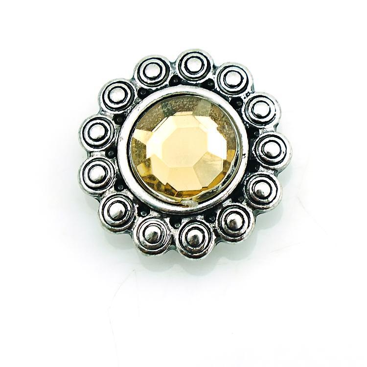 JINGLANG 18mm Bottoni a pressione Fashion i Plastici Metallo Metallo Ginger Catenacci DIY Noosa Accessori gioielli