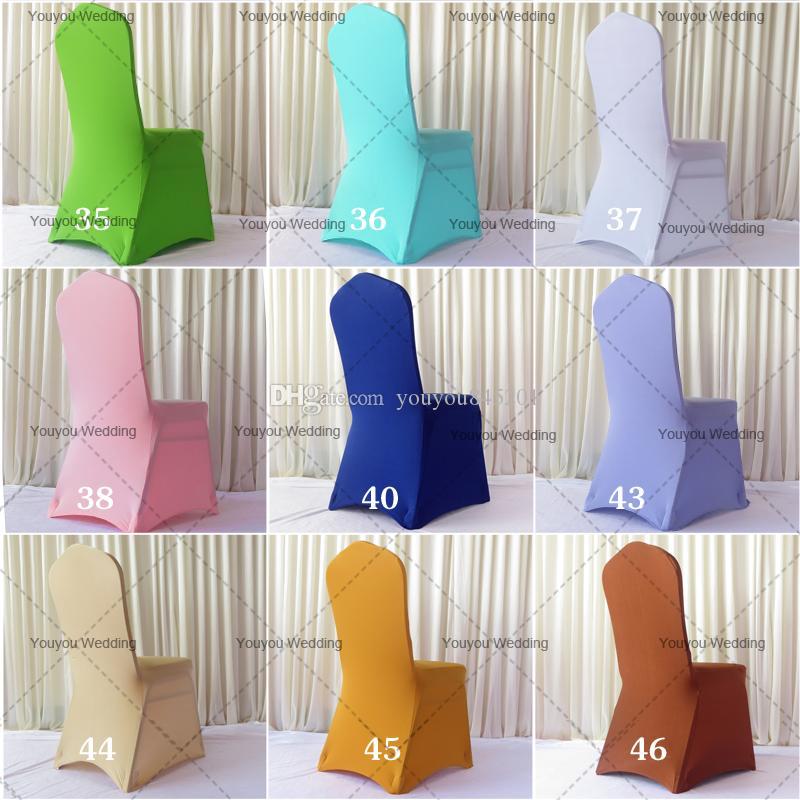Фото Promotion: 100шт MOQ смешанного цвета спандекс банкета крышки стула 205-210gsm с свободной перевозкой груза для свадьбы использования