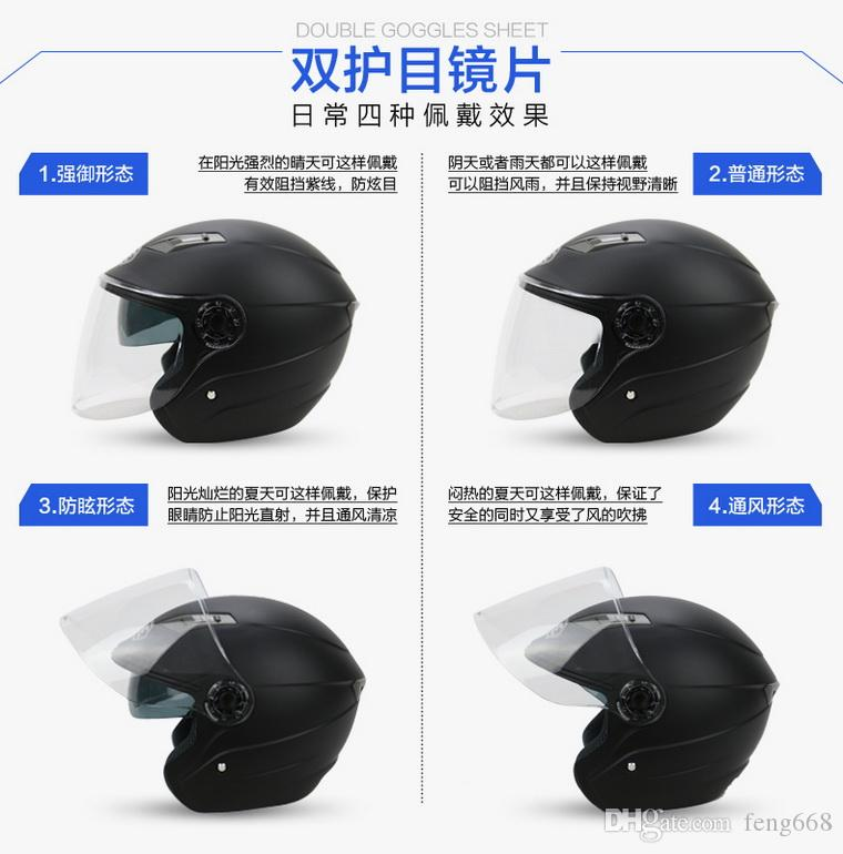 YOHE dual lens winter half face motorcycle helmet Eternal electric bicycle helmet motorbike helmet YH837A SIZE M L XL XXL