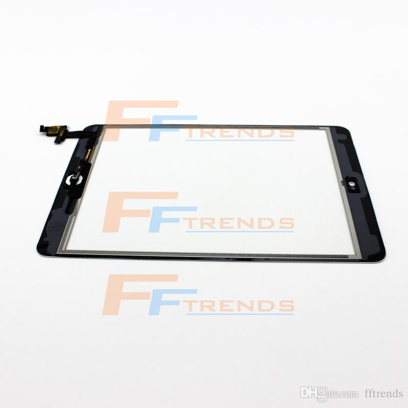 For iPad Mini 1 2 Touch Screen Digitizer Assembly with Home Button & IC White Black Glass Front Lens Replacement Part Free Ship