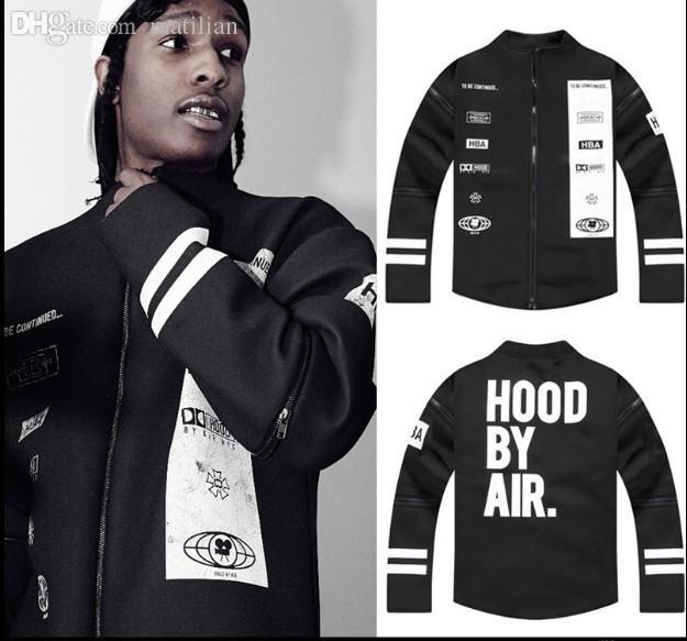 Fall Hip Hop Baseball Jersey Fashion Brand Hood By Air ...