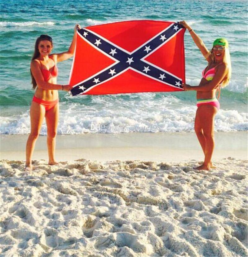 150*90cm Confederate Rebel Flag Civil War Flag Two Sides Printed Flag USA National Polyester Flags 5 X 3FT Refly