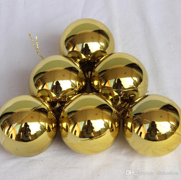 Six piece 1.2-3.9 inch Plastic Bauble Christmas decorative Balls To Decorate Chrismas Tree Plastic Ball CB0102